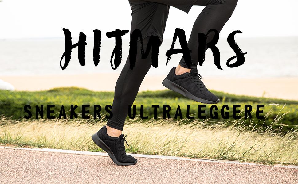 Hitmars tScarpe Running Uomo Sneakers Ginnastica Tennis Lacci Basket Basse Sportive