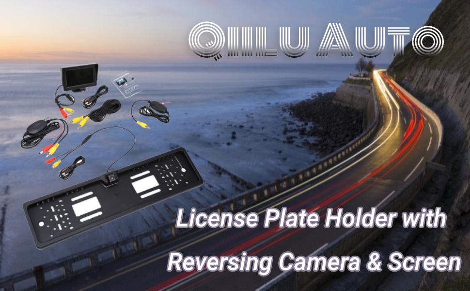Qiilu Auto Fahrzeug Wireless Rückfahrkamera Drahtlos Digital Rückfahrkamera Set Eu Kennzeichen Ip68 170 Grad Auto