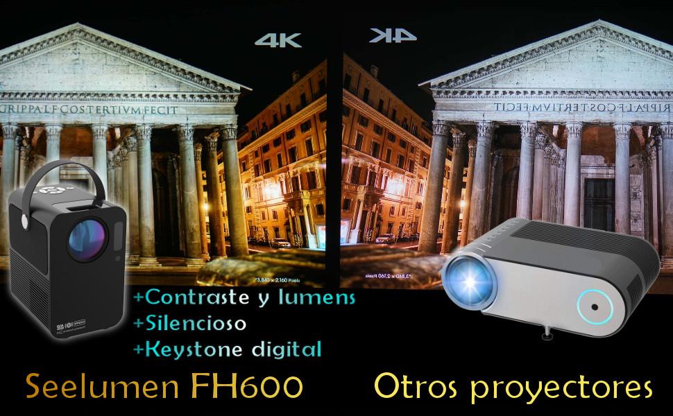 proyector 4k, mini proyector 4k, proyector yaber, proyector wimius, proyector bosnas, proyector hd