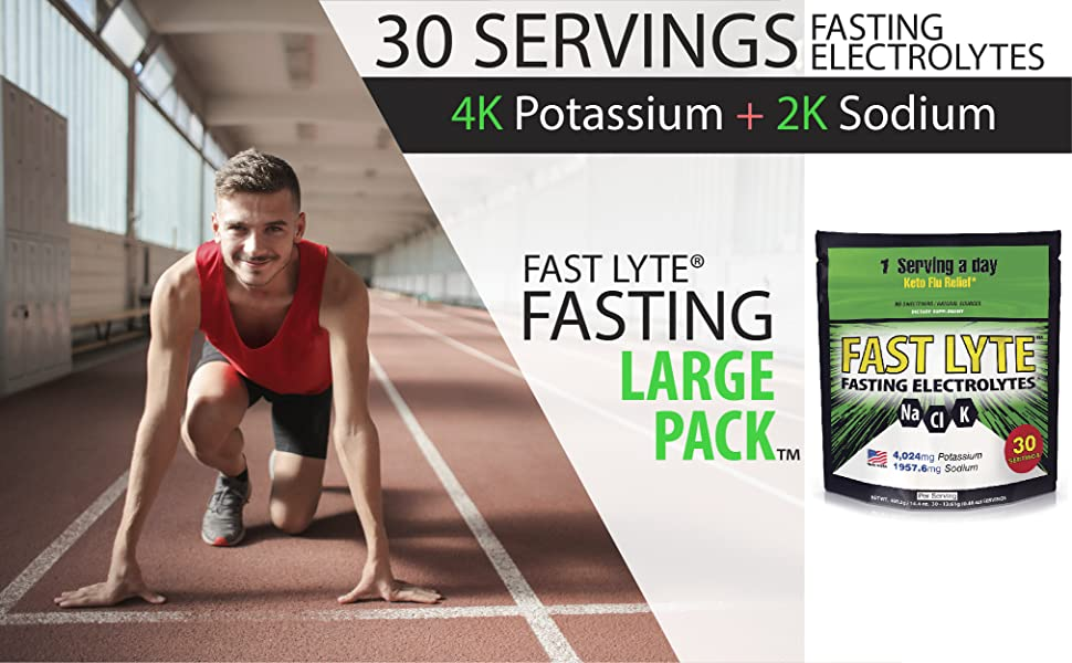 FAST LYTE electrolytes for keto, fasting, and intermittent fasting diets amazon logo