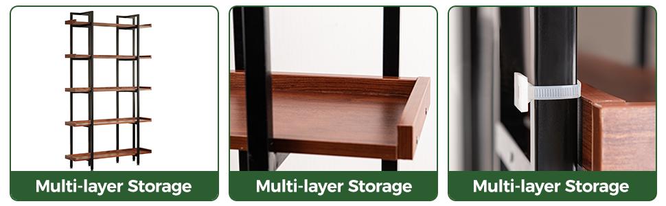 5 tier industrial shelf