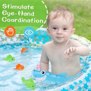 bathtub kiddie pool party with pole rod net