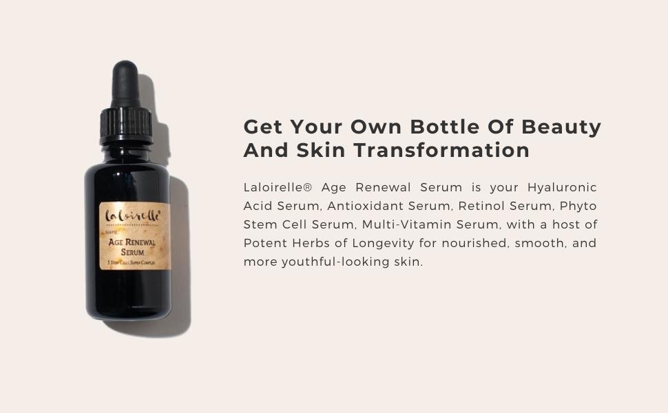 laloirelle age renewal serum, anti aging serum, hyaluronic acid serum