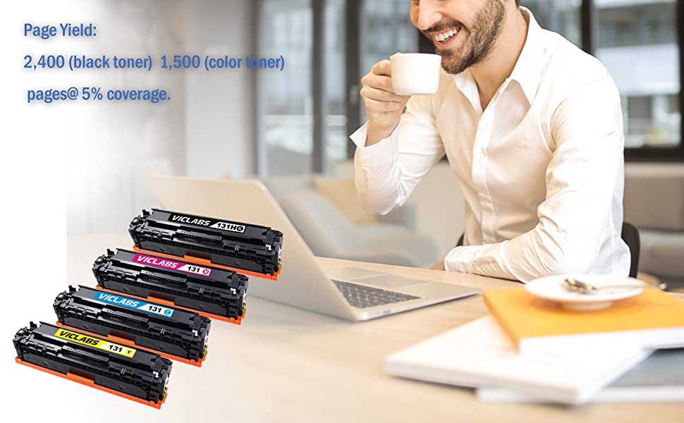 Replacement for Canon 131H 131 LBP7110CW MF624CW MF628CW MF8280CW Printer(Black,2-Pack VicLabs Compatible 131 131H Toner Cartridge