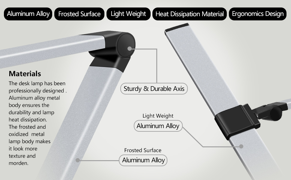 aluminum alloy material sturdy durable light weight morden