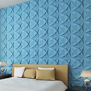 Art3d Plant Fiber Textured 3D Wall Panels for Interior Wall Decor, 33 Tiles  32 Sq Ft