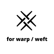 linen yarn for warp and weft in weaving
