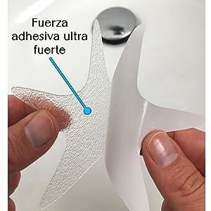 Antina Tapes e.K Autoadhesivas Tiras Antideslizantes para Ducha y ba/ñera Transparentes