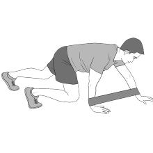Bear Crawl Exercise Bands Arms Shoulders