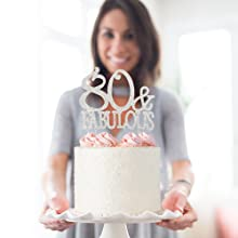 80 cake topper 80th birthday party decorations decoration eighty toppers