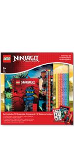 LEGO Ninjago Classic Sketchbook Stationery Set