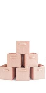 pink baby storage bins