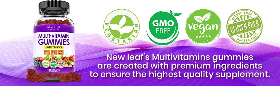 New Leaf Multivitamin Gummies Pectin Gummy