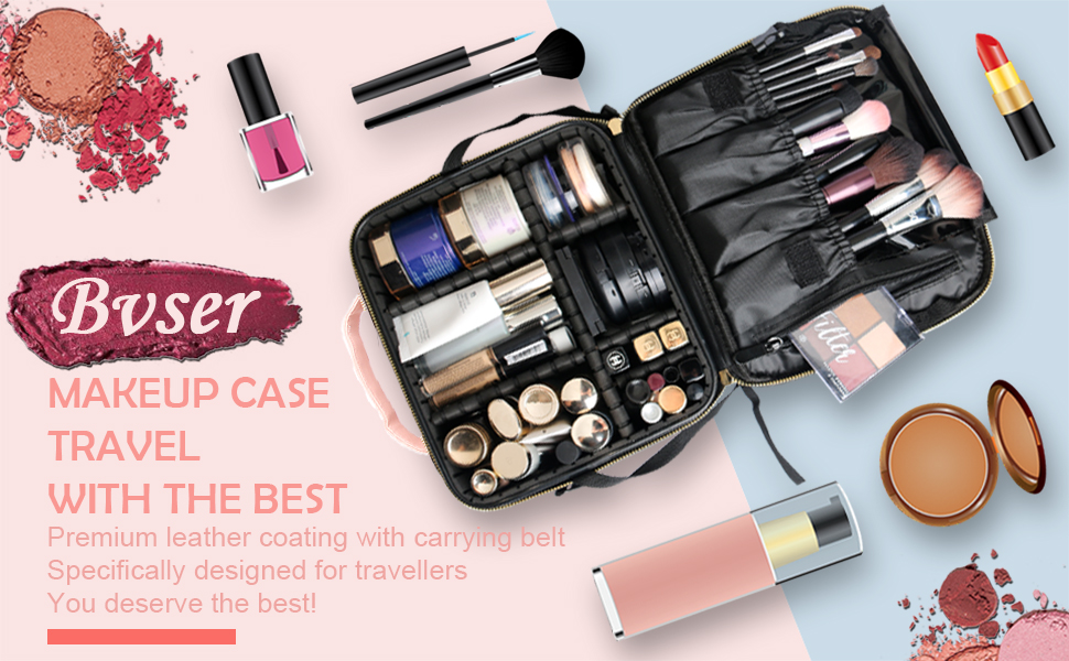 Bvser Travel Makeup Bag