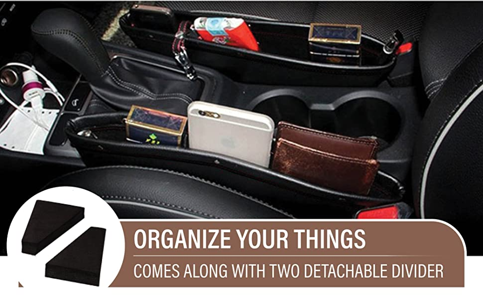 pu leather gap filler and organizer