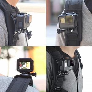 action camera backpack strap