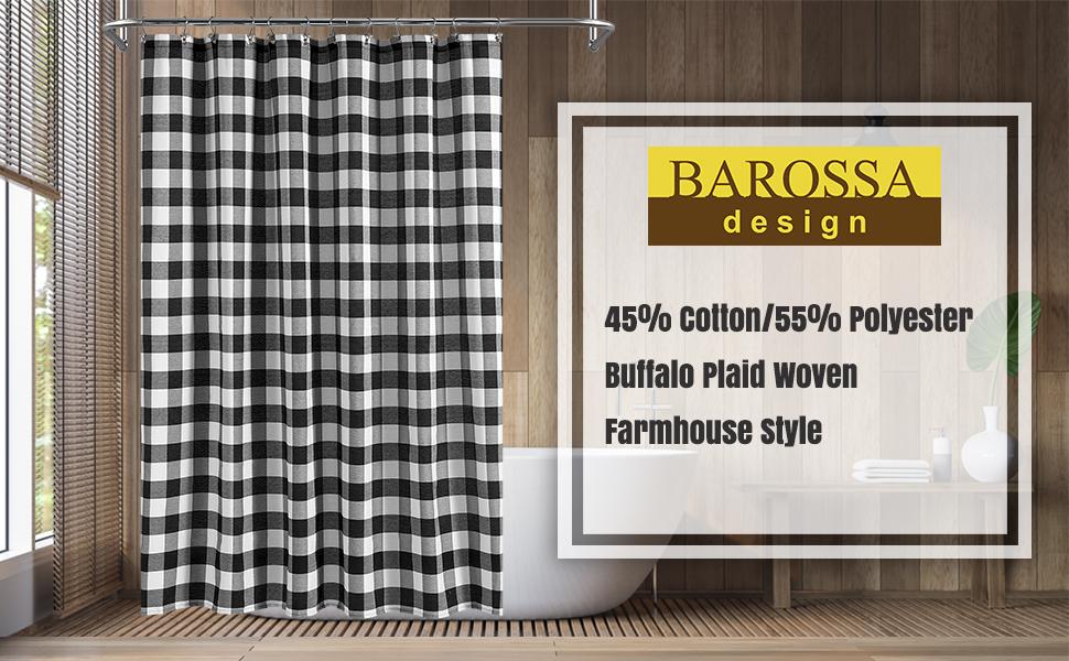 buffalo check shower curtain farmhouse style