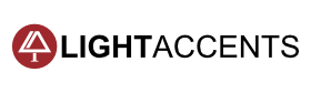 Lightaccents Logo Residential Lighting including Floor Lamps, Table Lamps and Lighting Fixtures.