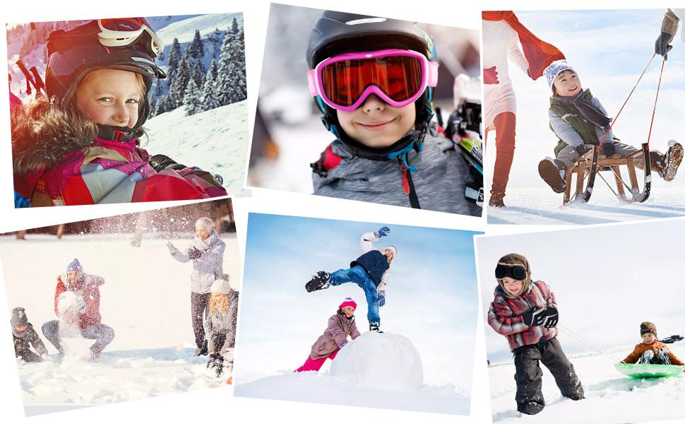 kids winter gloves toddler wakm ski mittens for boys girls