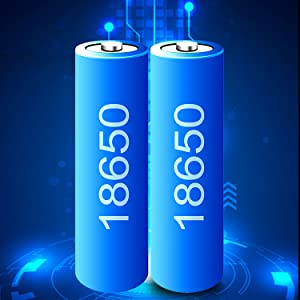 2 pec of 18650 Large capacity lithium battery
