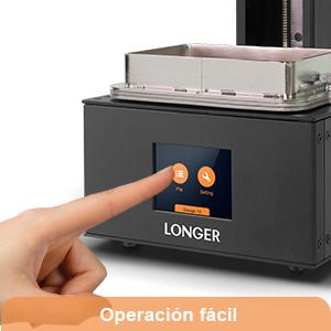 Longer SLA Impresora 3D Orange 10, impresora de resina 3D con pantalla táctil en color, impresión fuera de línea Tamaño de compilación 3.86 x 2.17x ...