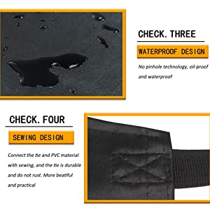 Best for Staying Dry When Dishwashing Industrial Chemical Resistant Plastics Upgrade Waterproof Rubber Vinyl Apron Durable Ultra Lightweight Extra Long Dog Grooming black Lab Work Projects
