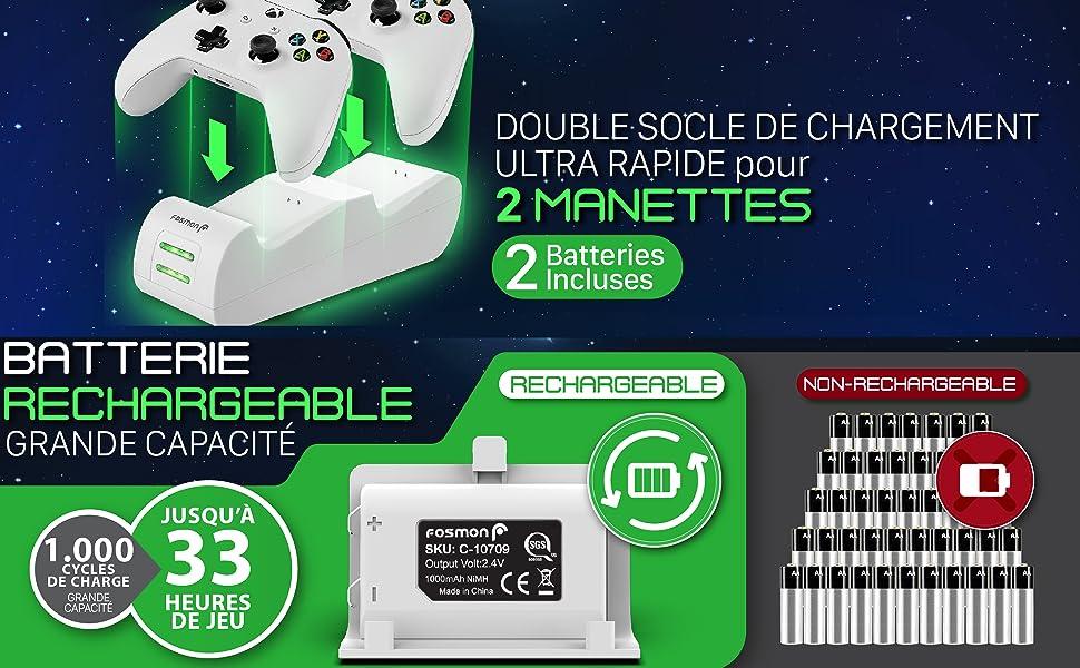 Chargeur Manettes pour Xbox