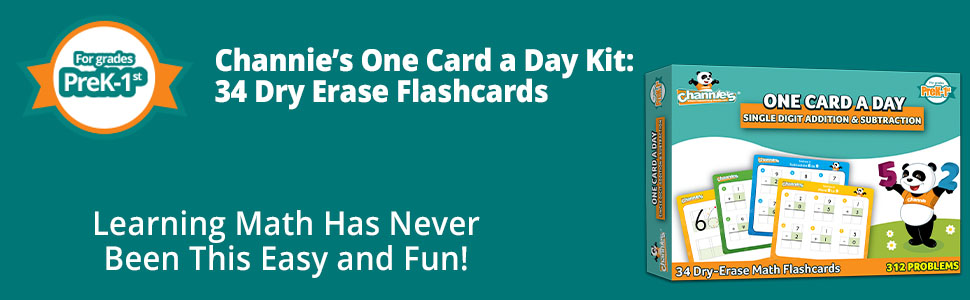one card a day dry erase kit - learning math has never been been this easy and fun