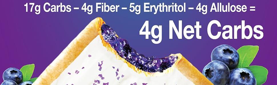 17g carbs- 4g fiber - 5g erythritol - 4g allulose