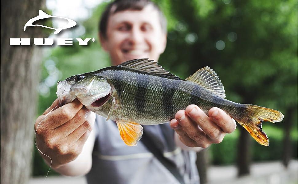 HUEY Sport Bass Fishing Lures Tackle Kit Multi 5pcs Fresh Saltwater Baits Lake Set Swim