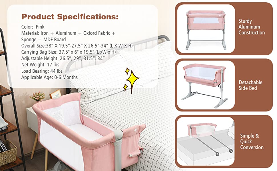 specification of this baby crib