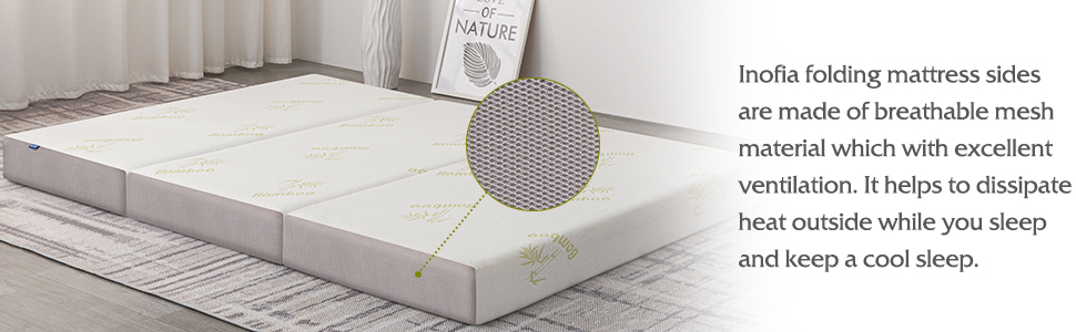 breathable cover foldable mattress