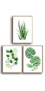 palm leaf framed wall art