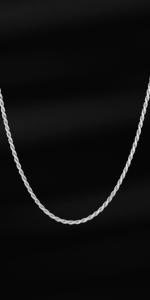 Catena in corda intrecciata in argento