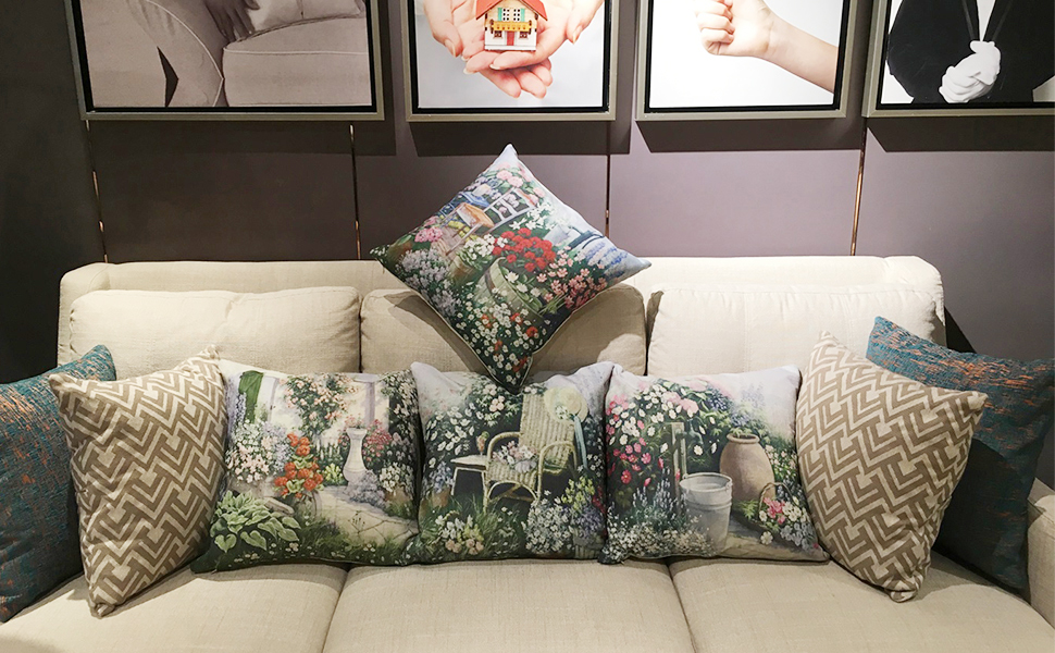 Flower pillow covers