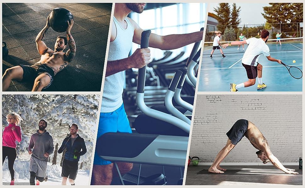 mens sports fitness shorts