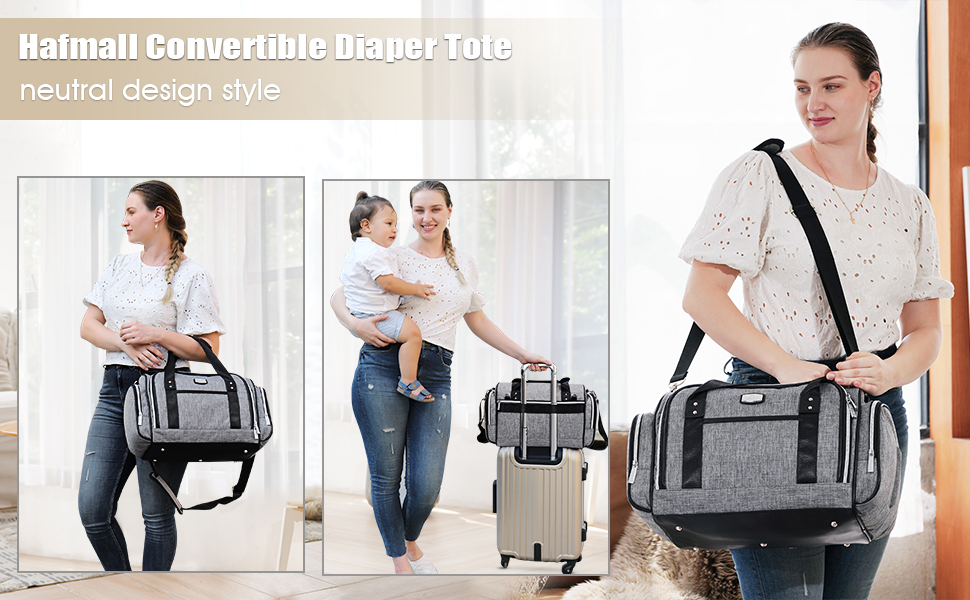 Hafmall nappy changing tote