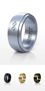 RinFit Stylish Silicone Wedding Rings