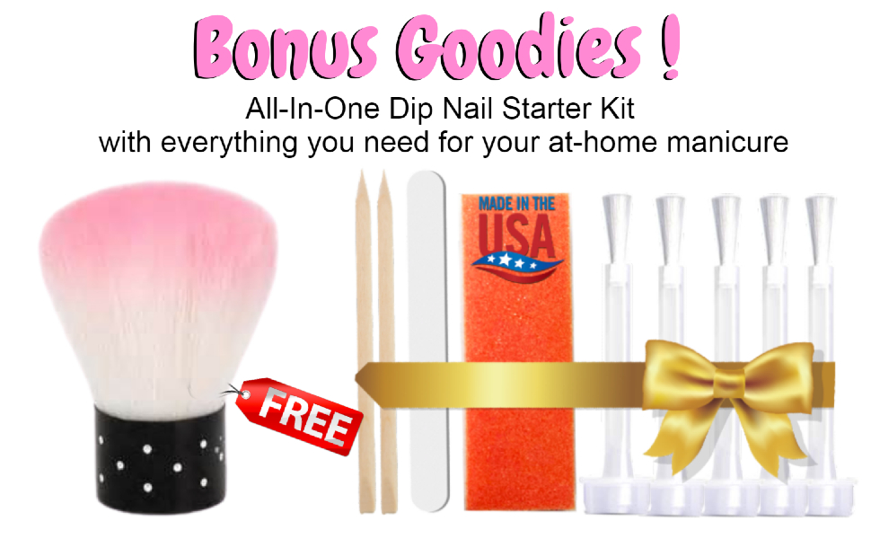 bonus goodies dip liquid set