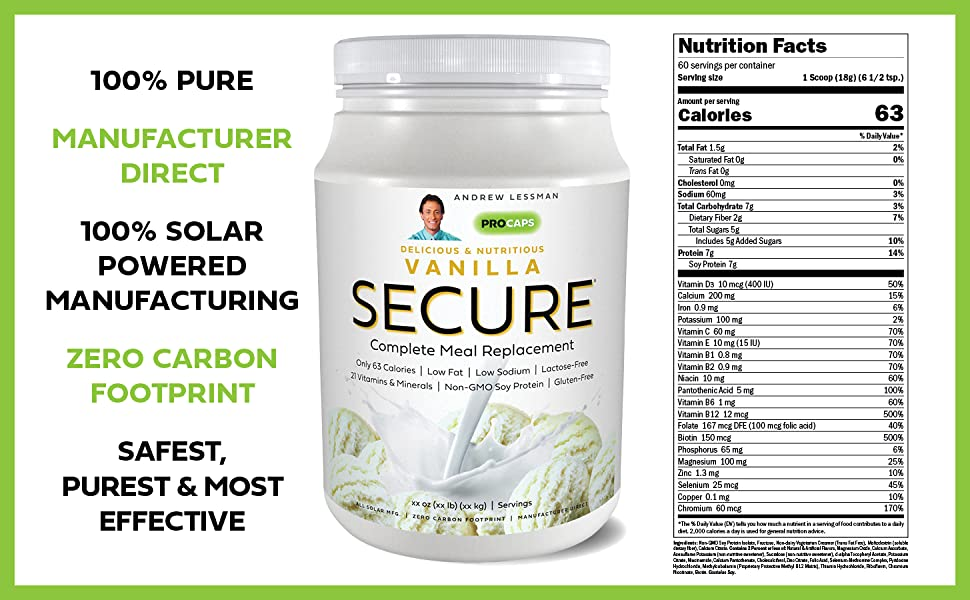 Secure Soy Complete Meal Replacement - Vanilla