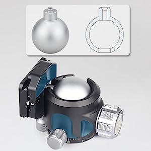 low gravity centra ballhead light weight design
