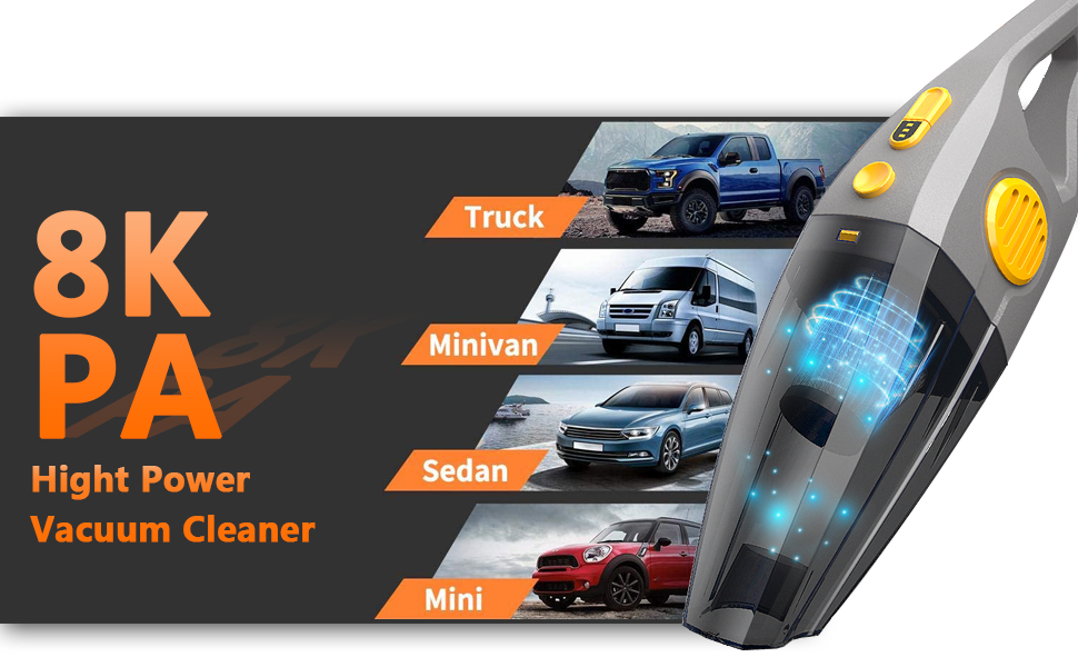 Wireless Car Vacuum Cleaner