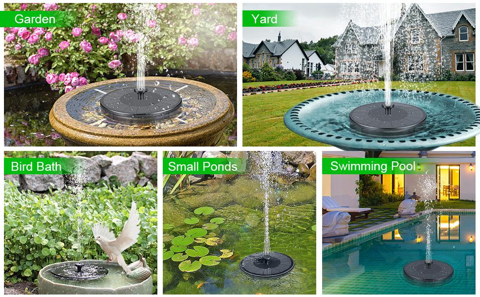 solar fountain for garden
