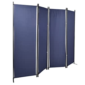 GOJOOASIS 4 Panel Room Divider Folding Privacy Screen Home Office Dorm Decor White
