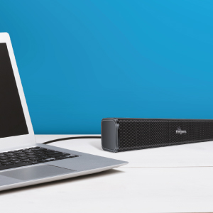 FINGERS F2.0 USB Speaker placed next to a laptop