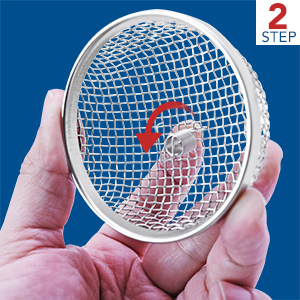 """RV Insect Screen Stainless Steel Mesh Furnace Water Heater Vent Cover Installation Tool 2.8"""" 8.5"""""""