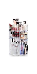 Auxmir make-up-organizer voor het opbergen van make-up, 360 graden draaibaar, voor alle make-up-accessoires in de badkamer