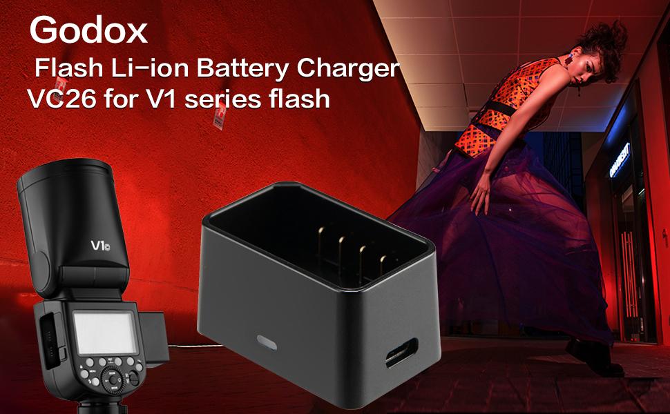 GODOX V1 Li-ion Battery Pack VC26 USB Battery