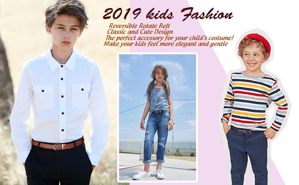 kids reversible belt for jeans