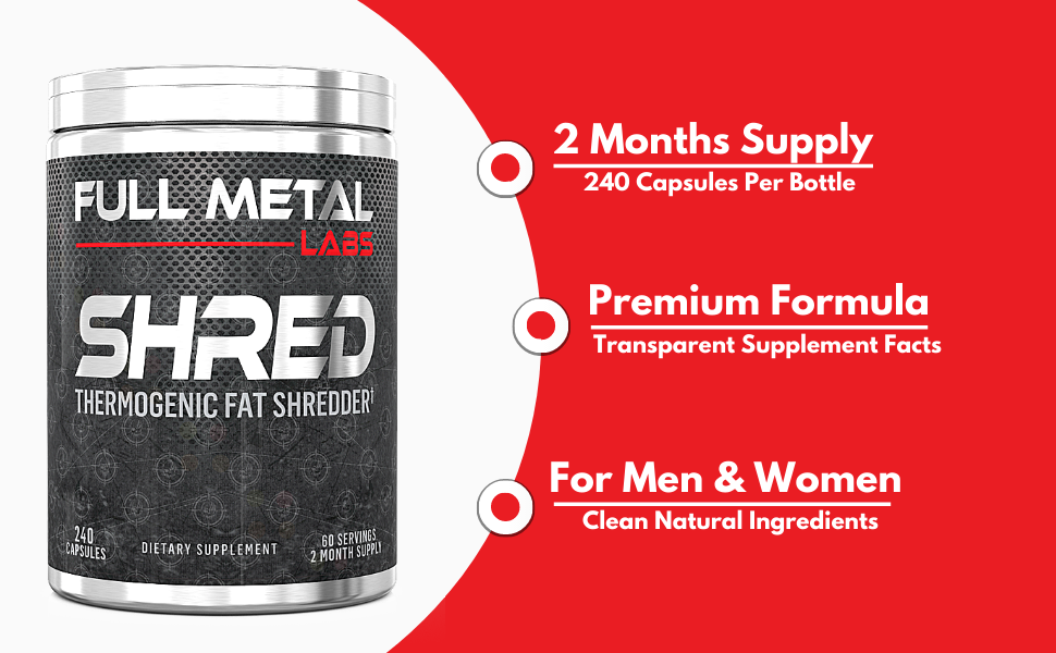 Full Metal Labs Shred Natural Appetite Suppressant and carb blocker